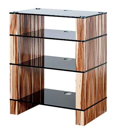 Cheap BLOK STAX DeLuxe 400 Four Shelf Satin Walnut Hifi Audio Stand & AV TV Furniture Rack Unit (B008AHJ4AM)