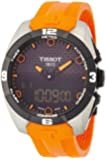 Tissot T-Touch Expert Solar Black Analog Digital Dial Orange Rubber Mens Watch T0914204705101