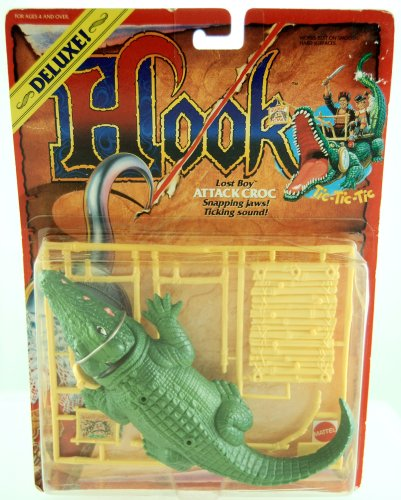 Buy Low Price Mattel 1991 – Hook – Deluxe – Lost Boy Attack Croc – Snapping Jaws & Ticking Sound – Limited Edition – Collectible Figure (B0012K1SWQ)