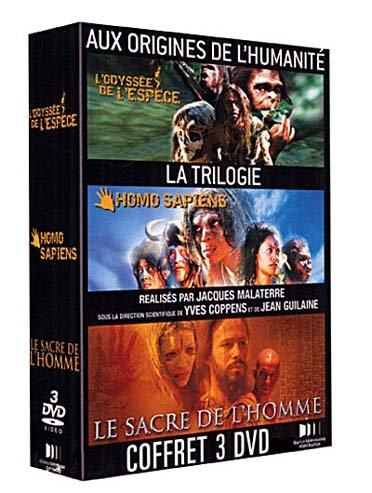 Aux Origines De L'humanite, La Trilogie - Coffret - L'odyssee De L'espece + Homo Sapiens + Le Sacre De L'homme