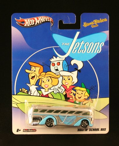 SURFIN' SCHOOL BUS * THE JETSONS * Hanna-Barbera Presents Hot Wheels 2011 Nostalgia Series 1:64 Scale Die-Cast Vehicle