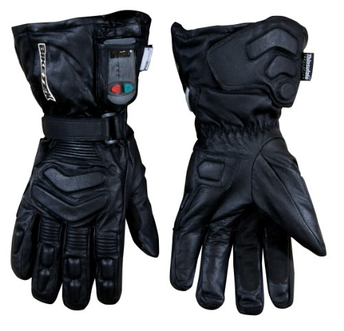 BIKETEK ELECTRICALLY HEATED GLOVES GOATSKIN LEATHER 3 HEAT SETTINGS XL