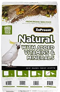 ZuPreem® Natural Bird Food, Large (L) - 20 lb