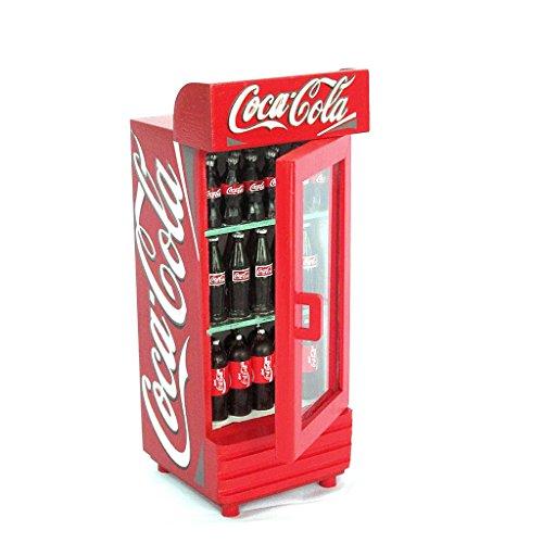 Dollhouse Miniature Coca Cola Refrigerator front-410253