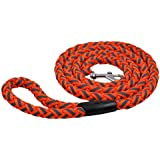 MeowWoof Nylon Reflective Braided Dog Leash 6 Feet 5/8