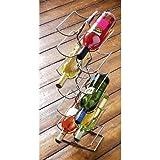 Wine Rack Chrome Capacity 12 Bottles - HP189358