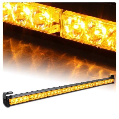 """Ediors 35.5"""" Led Traffic Adviser / Advising Emergency Warning Strobe Light Bar - Amber"""