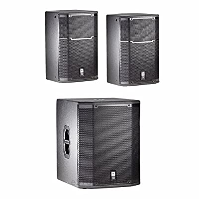 JBL PRX415M 15' (PAIR) Two-Way Speakers with One JBL PRX-418S Subwoofer from JBL