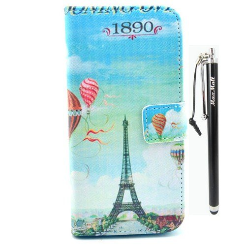 Maxmall Eiffel Tower Hot Air Balloon Pu Leather Stand Card Wallet Case Cover For Iphone 6 (4.7 Inchs) front-741704