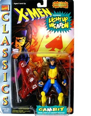 X- MEN CLASSICS- GAMBIT with LIGHT-UP ENERGY WEAPON (1ST SERIES). - 1