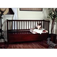 D-ART Country Storage Bench 3 Seater - in Mahogany Wood