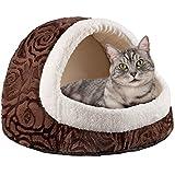 Premium Katzenhöhle aus Plüsch Kuschel-Höhle für Katzen und Hunde Katzen-Haus XXL