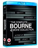 The Complete Bourne 4 Movie Collection (Identity / Supremacy / Ultimatum / Legacy) [Blu-ray]