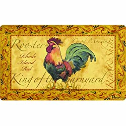Cushion Comfort 60-122-0099-18X30 Apache Mills Country Rooster Kitchen Mat 18 by 30-Inch