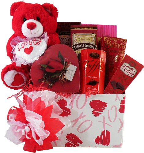 Whole Lot of Love, Hugs and Kisses Gift Box - Valentines Gift Basket