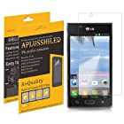 Aplusshield Anti-Scratch (HD) Cystal Clear Screen Protector For LG Optimus Showtime L86C Straight Talk + Lifetime Replacements Warranty [6-PACK] - Retail Packaging