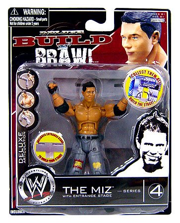 WWE Wrestling Build N' Brawl Series 4 Mini 4 Inch Action Figure The Miz (Wwe Build N Brawl Ring compare prices)