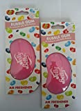 2 x Jelly Belly 15216 3d Jelly Bean Air Freshener - Bubble Gum