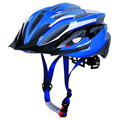 Mens Womens Mountain Bike bicycle Helmets bicycle Adjustable Adults Boys girls size M 54-59cm-Blue