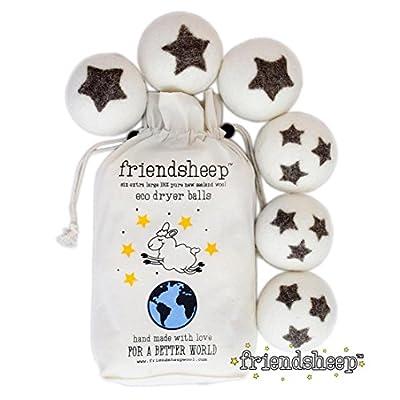 Wool Dryer Balls By Friendsheep : 100% Organic - Handmade - Fair Trade - Eco-friendly - Best All Natural Fabric Softener