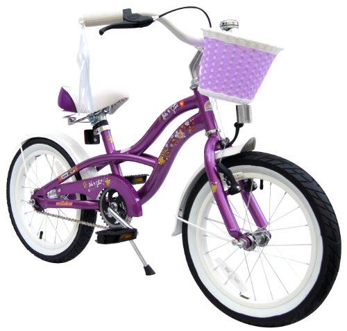 bike*star 40.6cm (16 Inch) Kids Children Girls Bike Bicycle Cruiser - Colour Lilac Purple