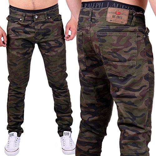 Herren Hose im grünen Camouflage Style 3163