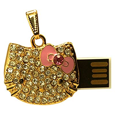 16 GB Pen Drive Golden Kitty Shape USB 2.0 Pen Drive CR1030