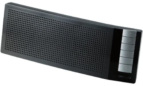 Logitec Bluetooth携帯用スピーカー コンパクト 通話用マイク付 ブラック LBT-MPSP100BK