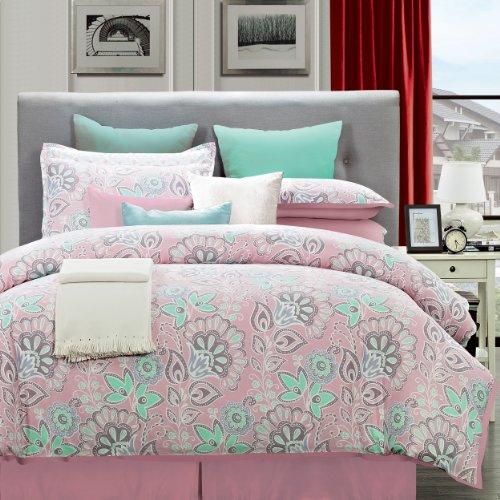Everrouge 8-Piece Cotton Bedding Set, Queen, Flower Power front-11197