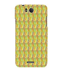 Triangle Shape Pattern Cute Fashion 3D Hard Polycarbonate Designer Back Case Cover for InFocus M530