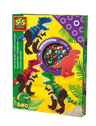 SES Creative - Cuentas para planchar de T-rex, multicolor (06117)
