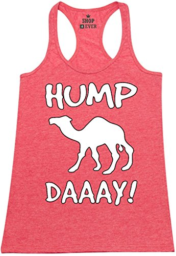 Shop4Ever® Camel Commercial Hump Day! Women's Racerback Tank Top Funny Tank Tops XX-LargeRed 0