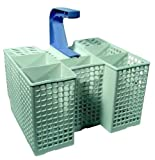 Dishwasher Cutlery Basket By Whirlpool, Fits ADG6340/1AV, ADG6340/1IX, ADG6340/1NB, ADG6340/1WH, ADG6560/1WH, ADG7550, ADP4403WH