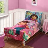 Dora the Explorer 4 in 1 Junior Bed Set - Create, padded Quilt Cover with matching 3pc Sheet Set