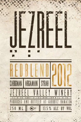 2012 Jezreel Valley Winery Israel Red Blend 750 Ml