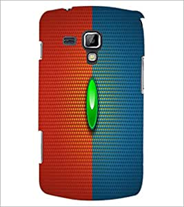 PrintDhaba Red Blue pattern D-1676 Back Case Cover for SAMSUNG GALAXY S DUOS 2 S7582 (Multi-Coloured)