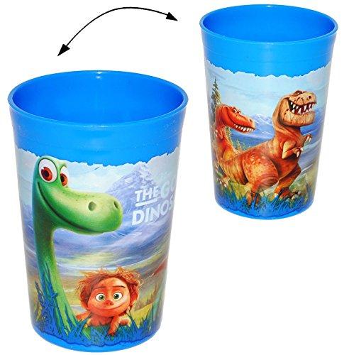 Arlo-Spot-Dinosaurier-Trinkbecher-Zahnputzbecher-Malbecher-Becher-Trinkglas-Kinderbecher-aus-Kunststoff-Plastik-Mdchen-Jungen-Dino-the-good-Dinosaur-fr-Kinder-Kindergeschirr-Kinderglas-Campinggeschirr