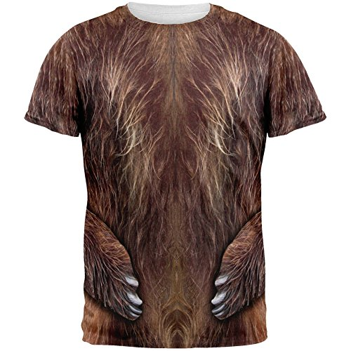 Halloween Brown Bear Costume All Over Adult T-Shirt