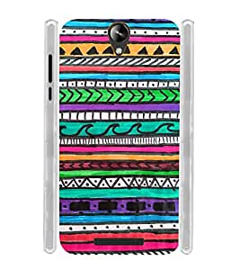 Indian Tribal Art Direction Soft Silicon Rubberized Back Case Cover for Micromax Canvas 6 Pro