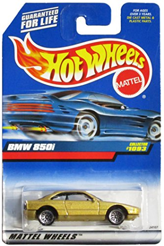 Mattel Hot Wheels 1999 1:64 Scale Gold BMW 850I Die Cast Car Collector #1093