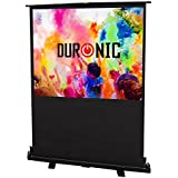 "Duronic FPS60/43 - Floor Projector Screen - 60"" (Screen: 122cm(w) X 91cm(h)) Portable Freestanding 4:3 Widescreen - Retracts into a portable carry case"