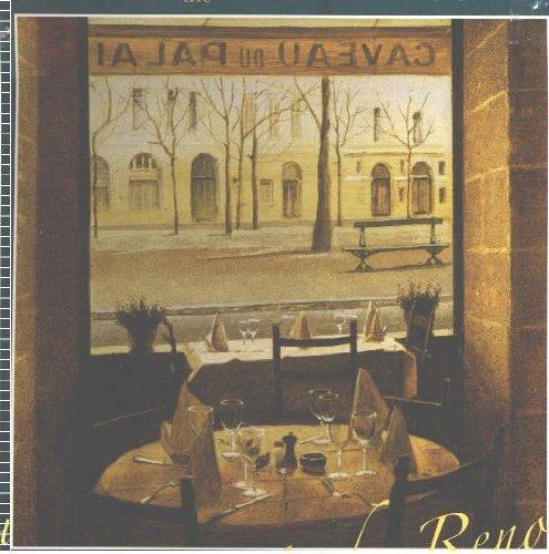 Andre Renoux 550 Piece Jigsaw Puzzle View Through the Window Inside Restaurant Caveau Du Palais