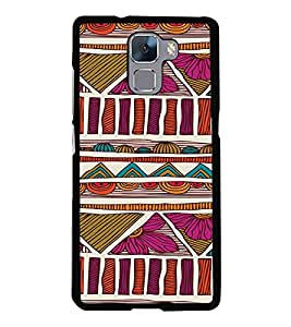 PrintVisa Plastic Multicolor Back Cover For Huawei Honor 7