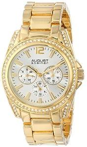 August+Steiner August Steiner Women's AS8075YG Analog Display Japanese Quartz Gold Watch