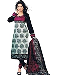 MEGHALYA Multi Color Women's Cotton Printed Dress Material(UnStitched)