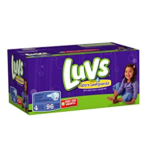 Luvs Diapers with Ultra Leakguards Big Pack Size 4 Diapers, 96 Count
