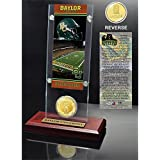 "NCAA Baylor Bears Ticket & Coin Desk Top Acrylic, 12"" X 6"" X 7"", Bronze"