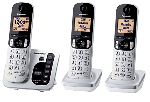 panasonic 3-handset phone kx-tg433sk