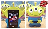 Cyprustech Disney 3D 3 Eyes Toy Story Alien Movable Eye Hard Case Protector Shield Cover Iphone 4/4S Gift