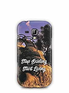 YuBingo Stop Existing. Start Living Designer Mobile Case Back Cover for Samsung Galaxy S Duos 2